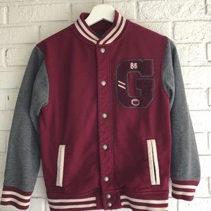 Gap kids varsity bomber jacket size 10